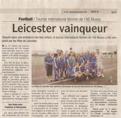 Leicester City Ladies Winners