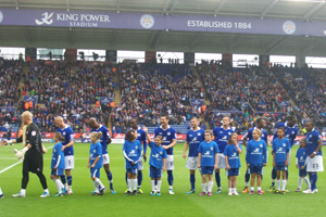 Leicester City Ladies (2010) under 12s Player Escorts  LCFC v Southampton 2011